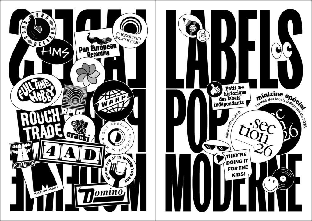 Labels pop moderne par section26