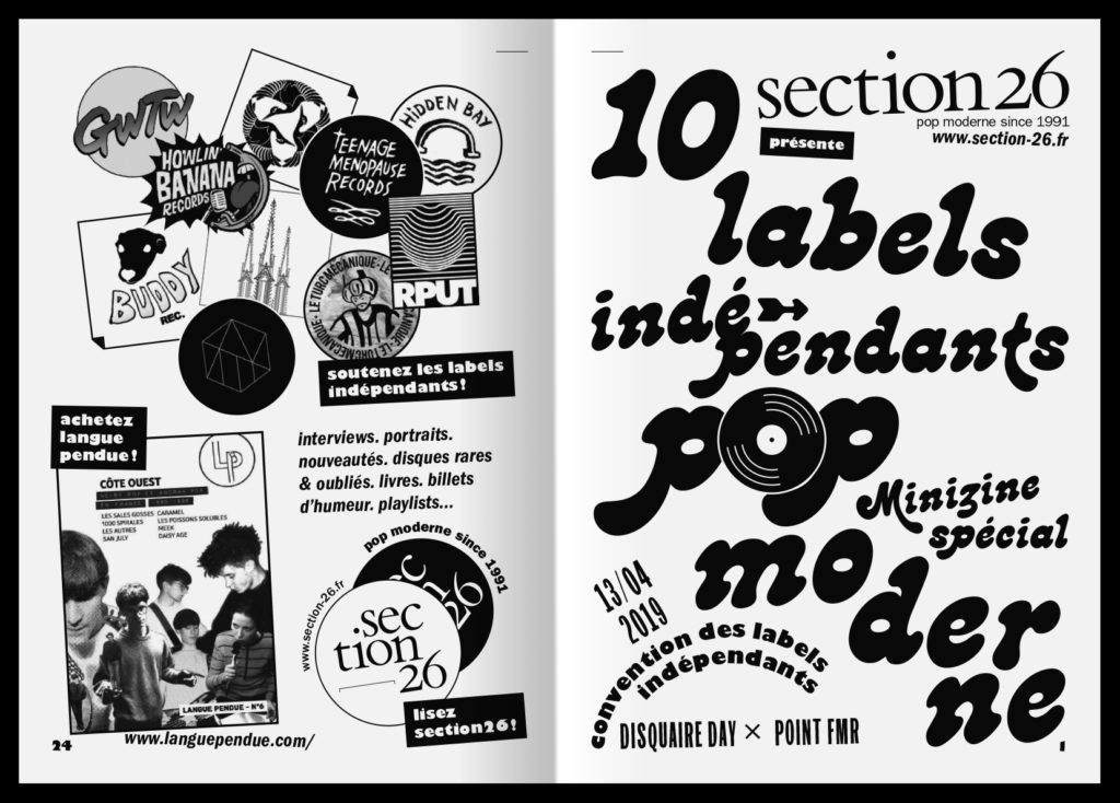 minizine 10 Labels indépendants pop moderne