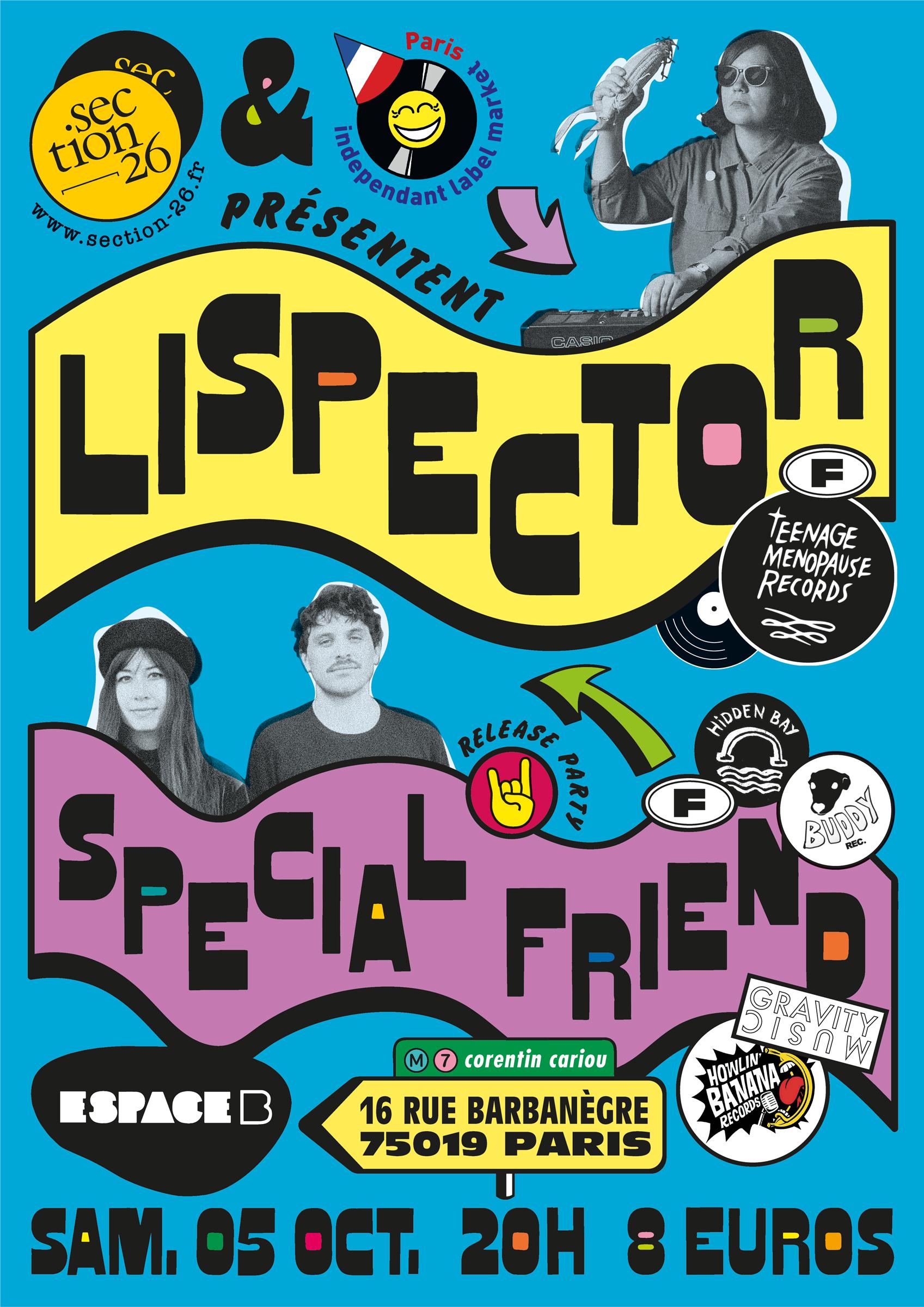 Section26 Espace B Marché des labels indépendants Paris concert Lispector Special Friend