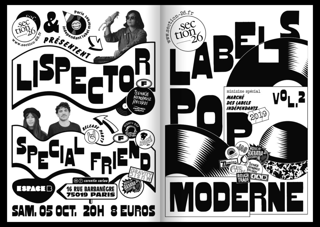 section26 fanzines spécial marché des labels indépendants 2019