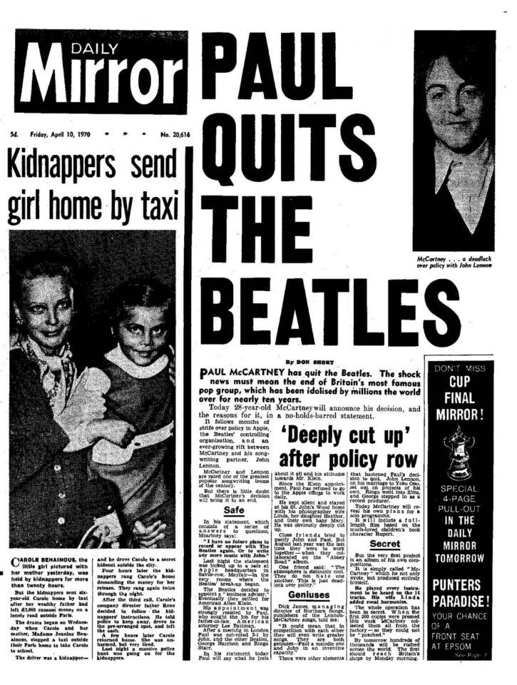 Daily Mirror Beatles