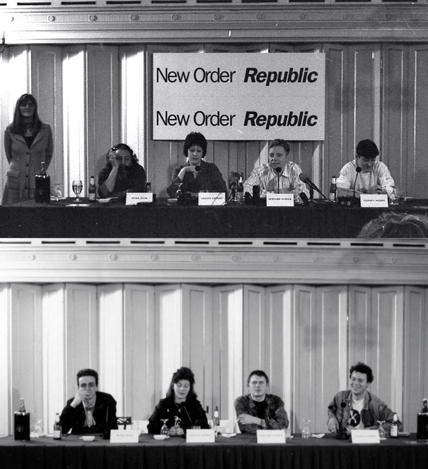 New Order, conférence de presse pour la sortie de Republic.