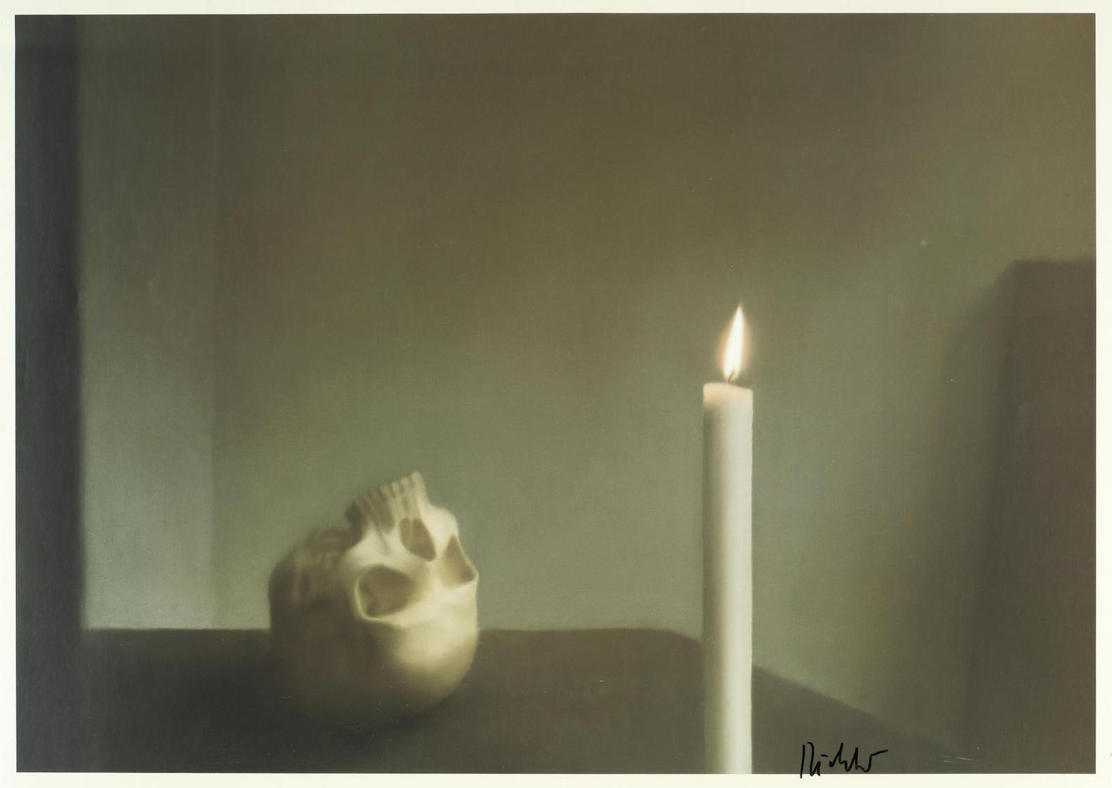 Schädel mit Kerze (Crâne avec bougie), Gerhard Richter, 1983