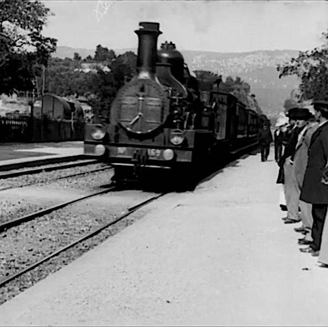 Arrivée du train en gare de La Ciotat, Les frères Lumière.
