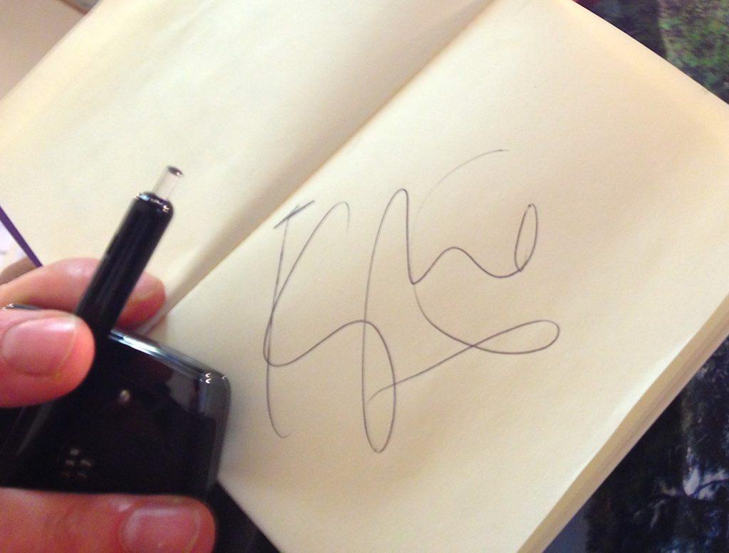 Kylie autograph