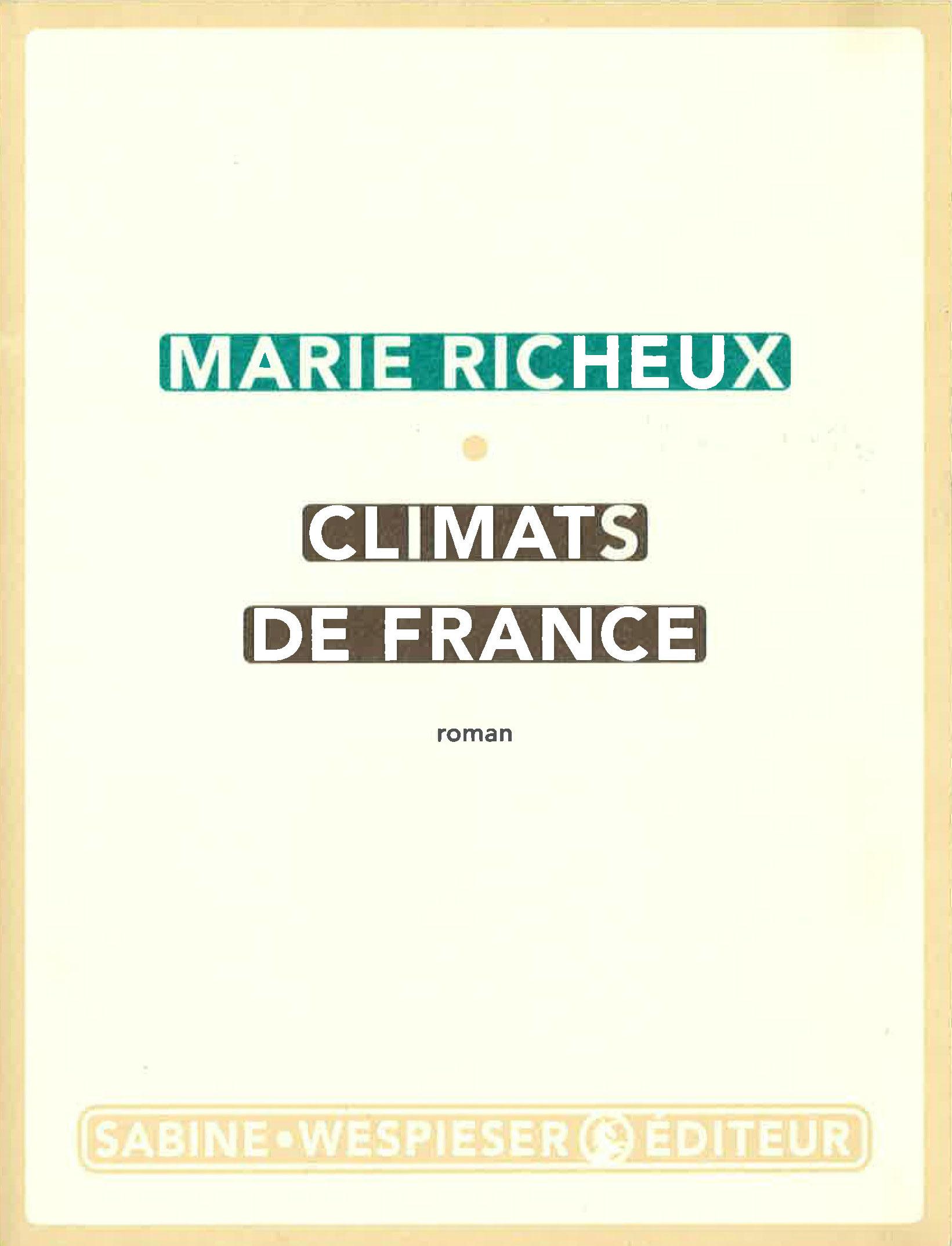 Marie RIcheux Climats de France