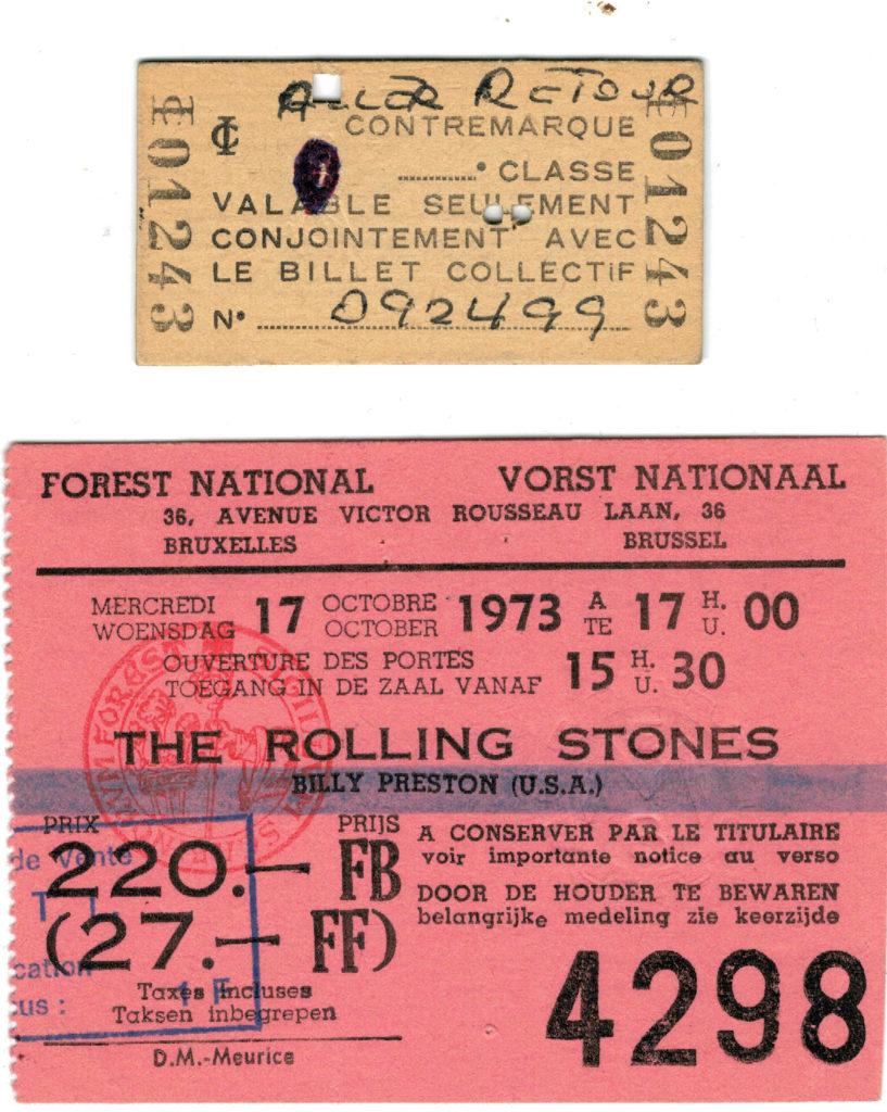 The Rolling Stones, Forest National de Bruxelles, le 17 octobre 1973. Photos : Alibert/Palisson