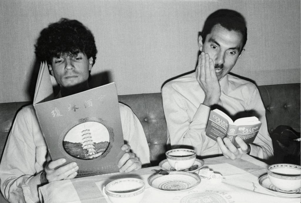 Sparks, Ron et Russell Mael dans un restaurant londonien, 1981.